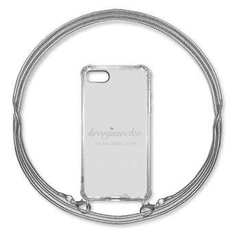 iPhone XR Handy-Hülle mit Kette, silber iPhone 7 u. 8, silber, Kette