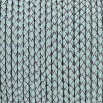 Geflochtenes Lederband (50cm), 3mm breit, rund, jade-türkis jade-türkis