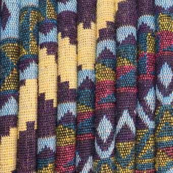 Gemustertes Schmuckband, 50cm, 6mm breit, mehrfarbig dunkelviolett (mehrfarbig) - 6 mm rund