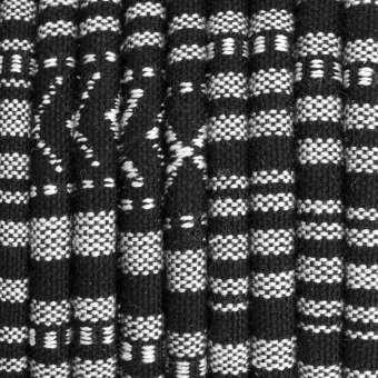 Gemustertes Schmuckband, 50cm, 6mm breit, schwarz-weiß schwarz-weiß - 6 mm rund