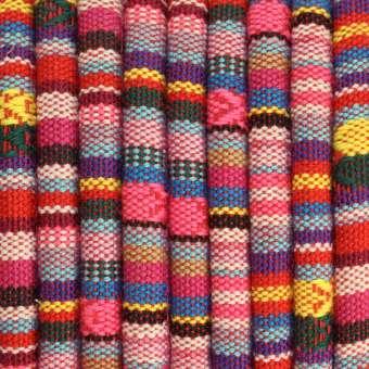 Gemustertes Schmuckband, 50cm, 6mm breit, mehrfarbig rosa (mehrfarbig) - 6 mm rund