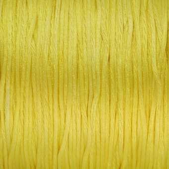 Satinschnur, 100cm, 1,6mm breit, gelb zitronengelb