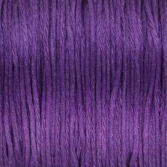 Satinschnur, 100cm, 1,6mm breit, violett dunkelviolett