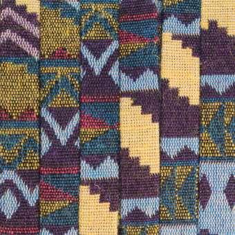 Gemustertes Schmuckband, 50cm, 10mm breit, mehrfarbig dunkelviolett (mehrfarbig) - 10 mm flach