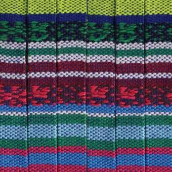 Gemustertes Schmuckband, 50cm, 10mm breit, blau mehrfarbig dunkelviolett (mehrfarbig) - 10 mm flach