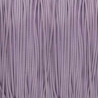 Gewachstes Schmuckband (100cm), 0,75mm breit, rund, helllila hellviolett