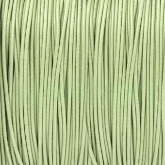 Gewachstes Schmuckband (100cm), 0,75mm breit, rund, lindgrün lindgrün