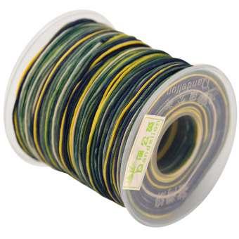 Dandelion Satinband (100cm), 1mm breit, marine-multifarben marine (mehrfarbig)