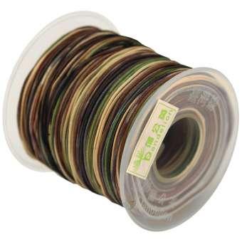Dandelion Satinband (100cm), 1mm breit, braun-multifarben braun (mehrfarbig)