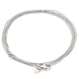 Halskette mit `Herz & Krone`-Anhänger, 925 Sterling Silber, 90cm 90cm