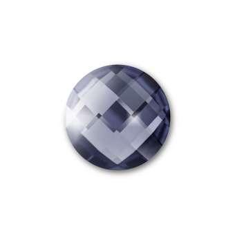 Cabochon, Ø 10 mm, Glas, rund, grau grau