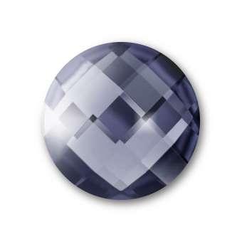 Cabochon, Ø 16 mm, Glas, rund, grau grau