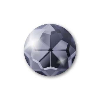 Cabochon, Ø 12 mm, Glas, rund, grau grau