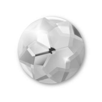Cabochon, Ø 16 mm, Glas, rund, crystal crystal