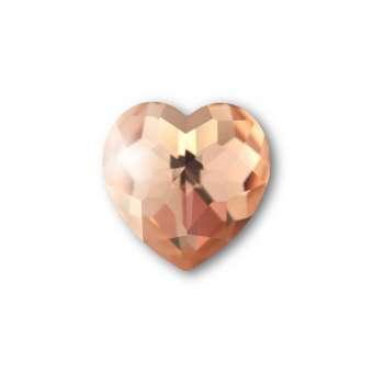 Cabochon, Ø 8X8 mm, Glas, Herz, rosa rosa