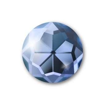 Cabochon, Ø 14 mm, Glas, rund, blau blau
