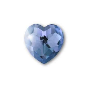 Cabochon, Ø 8X8 mm, Glas, Herz, blau blau