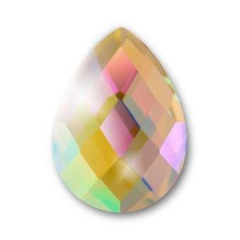 Cabochon, Ø 13X18 mm, Glas, Tropfen, crystal AB crystal AB