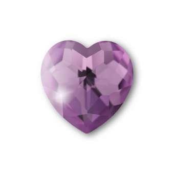 Cabochon, Ø 8X8 mm, Glas, Herz, lila lila