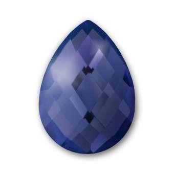 Cabochon, Ø 13X18 mm, Glas, Tropfen, royalblau royalblau