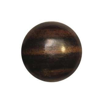Cabochon (Ebenholz), Ø 14 mm, braun Ebenholz 14 mm