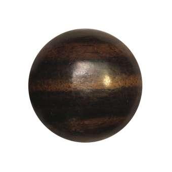 Cabochon (Ebenholz), Ø 16 mm, braun Ebenholz 16 mm