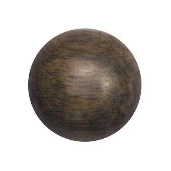 Cabochon (Greywood), Ø 16 mm, braun Greywood 16 mm