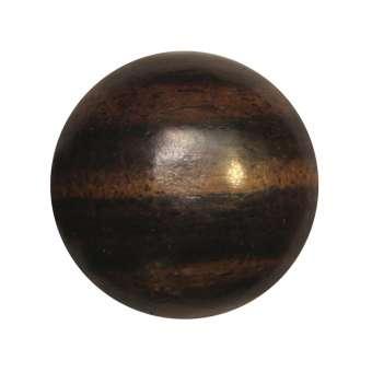 Cabochon (Ebenholz), Ø 18 mm, braun Ebenholz 18 mm