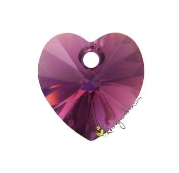 Swarovski XILION Heart Pendant (6228), 10,3X10 mm, Amethyst Aurore Boreale Aurore Boreale (204 AB) 204 AB Amethyst Aurore Boreale