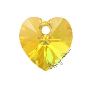 Swarovski XILION Heart Pendant (6228), 10,3X10 mm, Sunflower Aurore Boreale Aurore Boreale (292 AB) 292 AB Sunflower Aurore Boreale