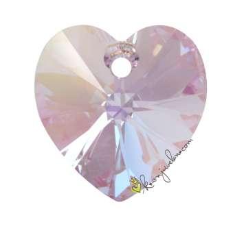 Swarovski XILION Heart Pendant (6228), 14,4 mm, Violet Aurore Boreale Aurore Boreale (371 AB) 371 AB Violet Aurore Boreale