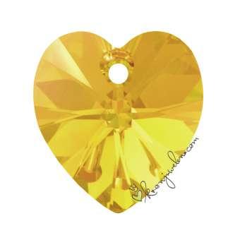 Swarovski XILION Heart Pendant (6228), 14,4 mm, Sunflower Aurore Boreale Aurore Boreale (292 AB) 292 AB Sunflower Aurore Boreale