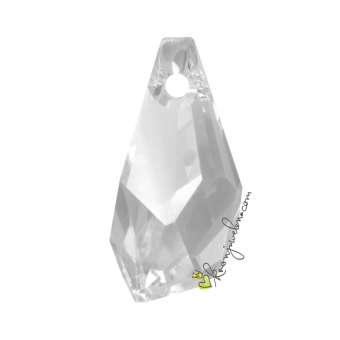 Swarovski Polygon Drop Pendant (6015), 17 mm, Crystal (001) 001 Crystal