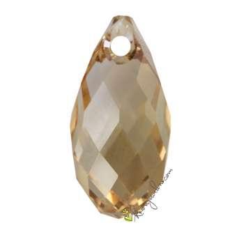 Swarovski Briolette Pendant (6010), 17 mm, Crystal Golden Shadow (001 GSHA) 001 GSHA Crystal Golden Shadow