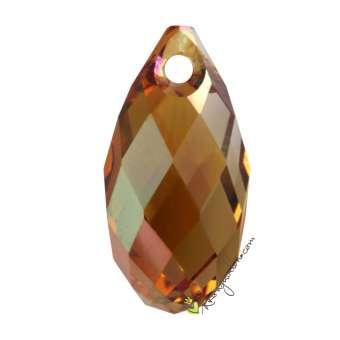 Swarovski Briolette Pendant (6010), 17 mm, Crystal Copper (001 COP) 001 COP Crystal Copper