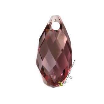 Swarovski Briolette Pendant (6010), 13 mm, Crystal Antique Pink (001 ANTP) 001 ANTP Crystal Antique Pink