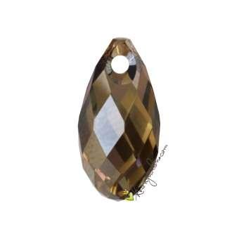 Swarovski Briolette Pendant (6010), 13 mm, Crystal Bronze Shade (001 BRSH) 001 BRSH Crystal Bronze Shade