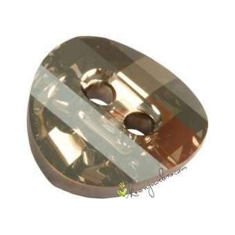 Swarovski Crystal Button (3016), 12mm, Crystal Satin (001 SAT) Crystal Satin (001 SAT)