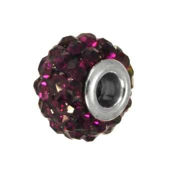 Strassperle, Glas, 10mm, lila farben lila farben
