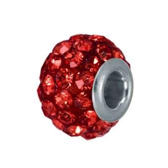 Strassperle, Glas, 10mm, rot rot