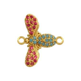 Juwelier-Libelle, 12 mm, gold-farben Libelle - gold