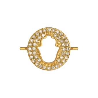 Juwelier-Schmuck, schützende Hand, 12 mm, gold-farben Schützende Hand - gold