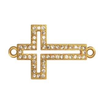Juwelier-Kreuz, 17 mm, gold-farben Kreuz - gold