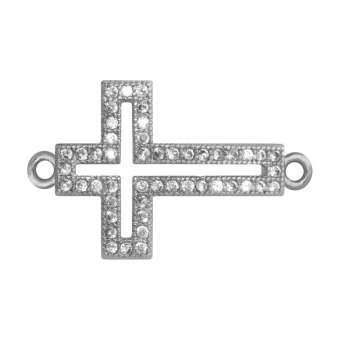 Juwelier-Kreuz, 17 mm, silber-farben Kreuz - silber