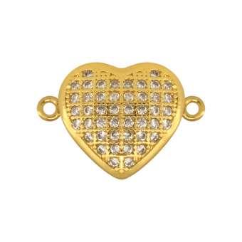 Juwelier-Schmuck, Herz, 12 mm, gold-farben Herz - gold