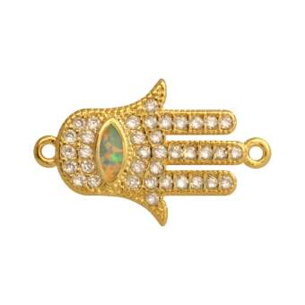 Juwelier-Schmuck, Buddha Hand, 16 mm, gold-farben Buddha Hand - gold