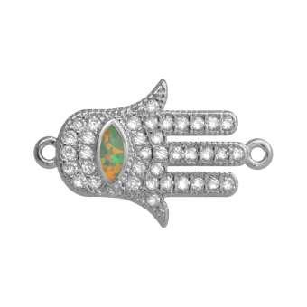 Juwelier-Schmuck, Buddha Hand, 16 mm, silber-farben Buddha Hand - silber