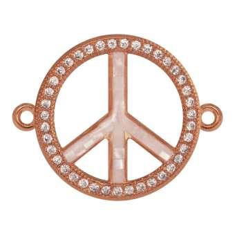 Juwelier Peace-Zeichen, 18 mm, roségold-farben Peace Zeichen - roségold