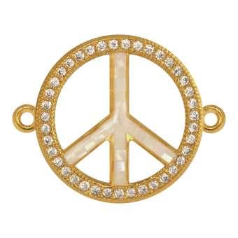 Juwelier Peace-Zeichen, 18 mm, gold-farben Peace Zeichen - gold