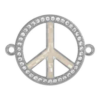 Juwelier Peace-Zeichen, 18 mm, silber-farben Peace Zeichen - silber